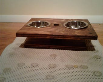 Elevated Double Dog Bowl Stand
