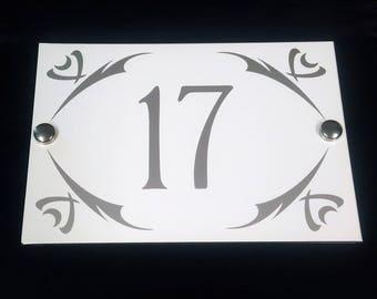 Modern House Number Plaque Design 1 / Classic Door Number Plaque / Personalised Sign Street Plaque