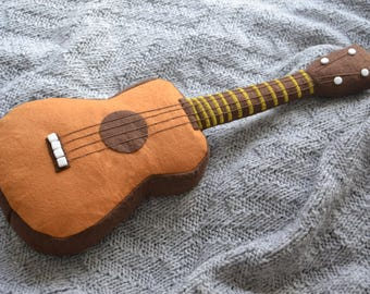 Felt musical instrument guitar