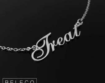 Customize Name Necklace, 15 Font Style To Choose, Customize Your Name Necklace, Any Pendant Name, Personalized Name Jewelry, Gold Plated 18k