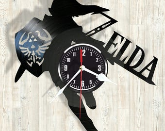 ZELDA vinyl record wall clock best eco-friendly gift for any occasion