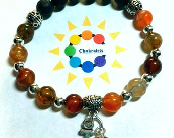 Beautiful Handcrafted Chakra Healing Aromatherapy Bracelets - Due to popular demand the Letters are In
