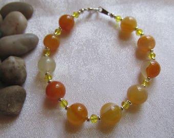 Yellow/Orange Agate Bracelet