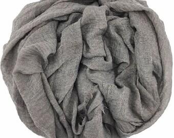 Grey Grey Rippled Hijab #07