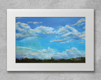 Summer Clouds - Original oil painting