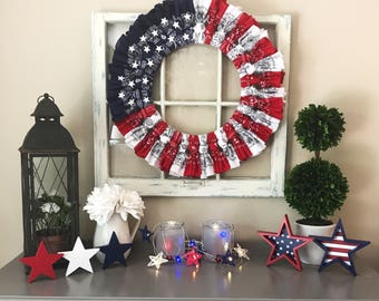 Patriotic Wreath  ***LOCAL PICKUP ONLY