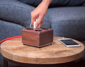 Wooden Socket Walnut (powerbox)