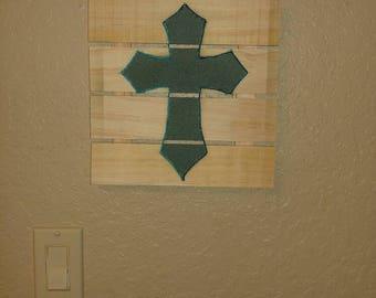 Cross on Wood Pallet