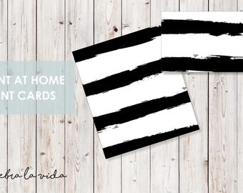 Tent/Placeholder Card. Instant Download. Printable Tent Card. Black and White. -03