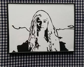 "Daenerys Targaryen 5""x7"" Painting GAME OF THRONES"