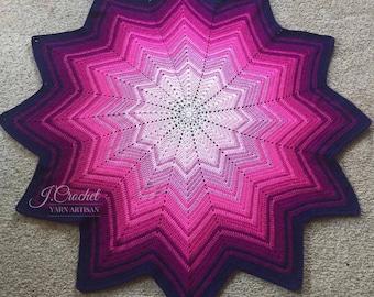 Crochet Blushing Star Blanket Afghan