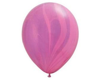 Pink & Purple Marble Latex Balloon