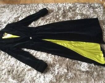 Vintage BIBA black velvet maxi coat