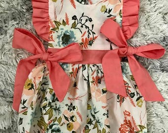 Floral Baby Girl Bubble Romper