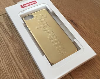 Supreme Gold High Shine iPhone 7 case