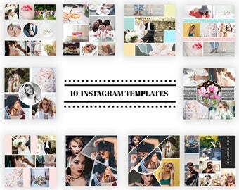 Instagram Template, Square Social Media Templates, Social media template, Photoshop Template, Instagram Post - Instant Digital download