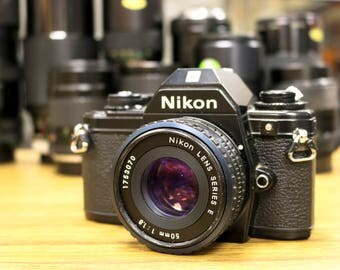 Nikon EM 35mm Film Camera w/Nikkor Series E 50mm f/1.8