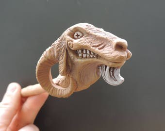 Goat pipe for smoking