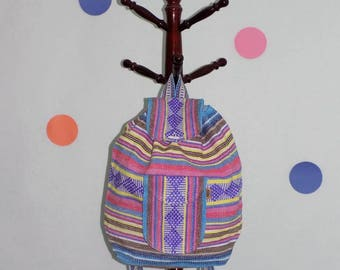 Handmade backpack ,Colorful backpack ,Mexican woven backpack,Mexican mochila, Mexican fashion
