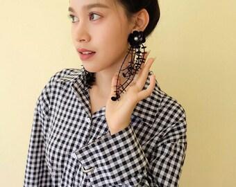Rita sequin earring,fashion earring,hand made earring