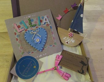 Greetings Card in a Box with a Gift.