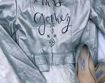 Faux Leather Bride Jacket