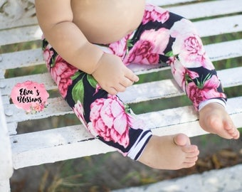 Floral baby leggings toddler stretch pants babyfloral tights wholesale baby boho baby first birthday baby girl shower gift cute leggings