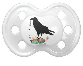 Hipster Raven Pacifier