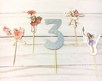 12 Pcs, Fairy Cupcake Toppers, Girls's Birthday Party, Fairy Birthday Party, Custom Fairy Party, Custom Cupcake Toppers