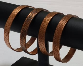 Textured copper Bangle, Copper bangle, Copper wrist band, Textured wrist band, Stackable bangles