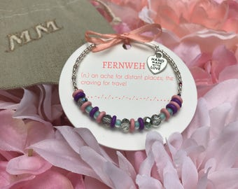 Adjustable Morse Code Bracelet- FERNWEH
