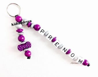 Personalized Keychain, pacifier clip personalized name baby pacifier