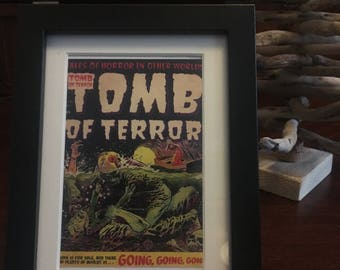 Retro 1950's Comic book cover - Framed - Tomb of Terror