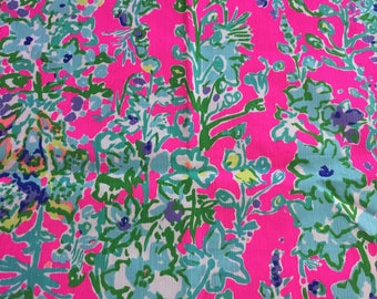 """Lilly Southern Charm Original Fabric 18"""" Square or By The Yard"""
