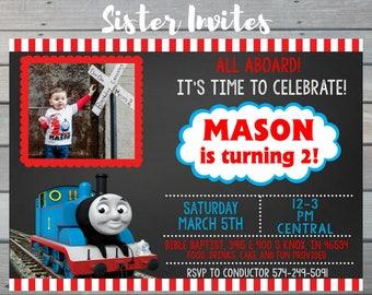 Thomas The Train Invitation / Thomas The Train Birthday / Thomas The Train Birthday Invitation / Thomas The Train Party / Thomas Train
