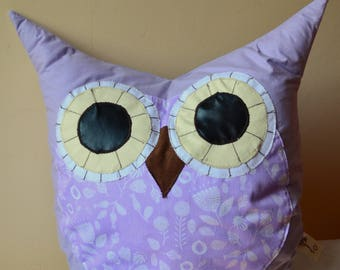 Decorative pillow, Owl pillow, owl cushion, funny colours, gift for kids, babies, room decor, home decor