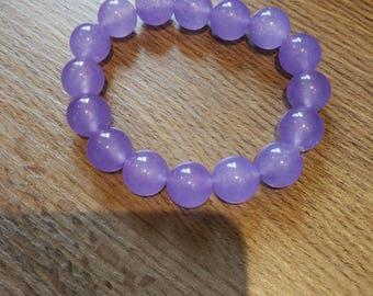 Lavender Jadeite bead bangle