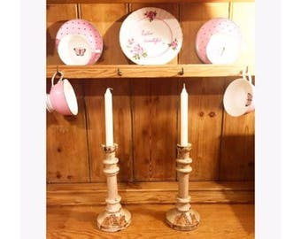 Vintage Style Rose Candlesticks