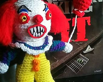 Creepy Pennywise Crochet Pattern (Pattern only)