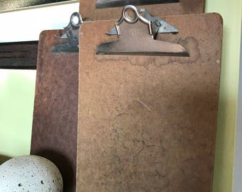 Set of Three Vintage Clipboards . Photo/Art Display . Altered Art/Mixed Media Projects . Home/Wall Decor . Vintage Office/Studio . Masonite