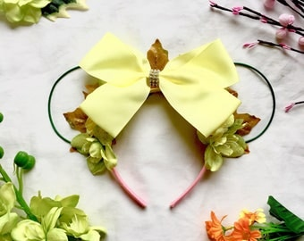 Princess Tiana Inspired Floral Mouse Ears