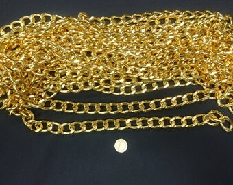 Gold plated large open link chain