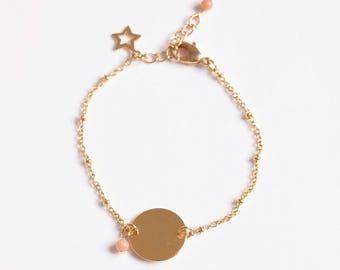Bracelet beaded tackled women gold medal Lecco