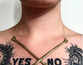 Crossbone Statement Necklace