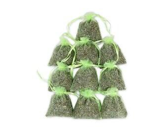 Sachet Bridal Shower Favor, French Lavender Scented Sachets Bags, Aromatic Hanging Linen Home Fragrance Potpourri Sachet Sets - LS001-16