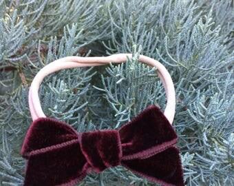 Vintage velvet bow