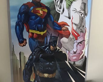 Batman vs superman gloss print 11*17