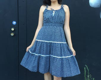 Vintage Navy Daisy dress