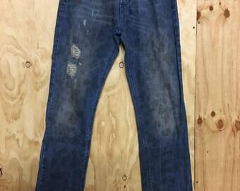 Ksubi Denim Jeans thrashed stained