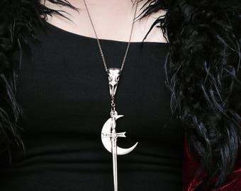 Crow & Sword Necklace